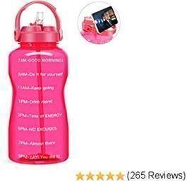 QuiFit Gallon Water Bottle w/ Straw