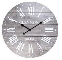 28 Grey Washed Roman Numeral Clock