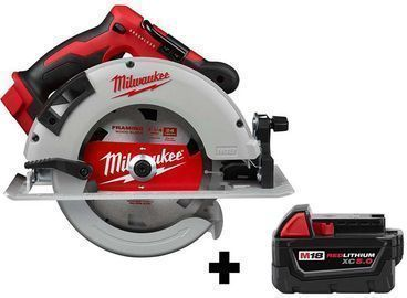 Milwaukee M18 18-Volt Lithium-Ion Brushless Cordless Circular Saw w/ 5.0Ah Battery