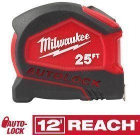 Milwaukee 25' Compact Tape Measure w/ Auto Lock