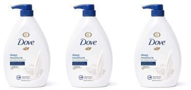 Dove Body Wash with Pump x 3