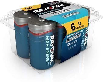 Rayovac D Batteries 6-Ct.
