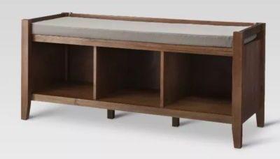 Threshold Open Storage Bench - Chestnut