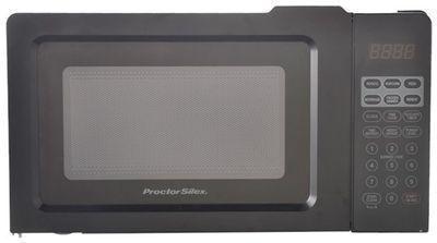 Proctor Silex 0.7 Cu.ft Black Digital Microwave Oven
