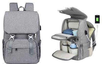 Diaper Bag Backpack with Charging Port