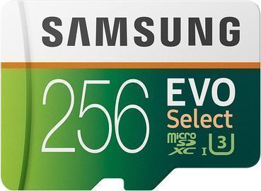 Samsung EVO Select 256GB UHS-I U3 microSDXC Memory Card