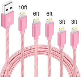 Pink iPhone Lightning Cables - 5 Pack