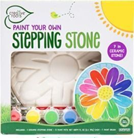 CREATIVE ROOTS Paint Your Own Flower Stepping Stone