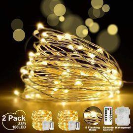 LED Fairy String Lights - 2 Set 100 LED 33ft