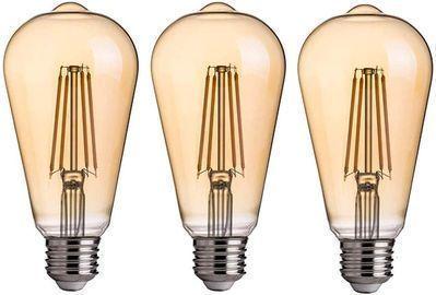 Pack of 3 LED Edison Bulbs