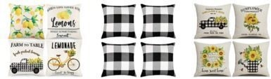 Set of 4 18x18 Throw Pillow Covers