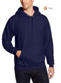 Hanes Men's Pullover Ecosmart Fleece Hooded Sweatshirt (Navy)