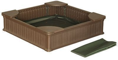 Home 4 ft. Square Sandbox with Cover