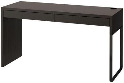 56 x 20 IKEA Micke Desk (Black & White)