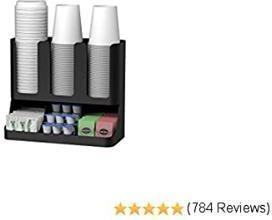 6 Compartment Coffee, Condiment & Cup Storage Organizer