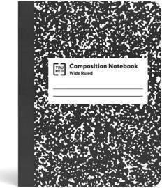 TRU RED Composition Notebook, 7.5 x 9.75, Wide Ruled, 80 Sheets