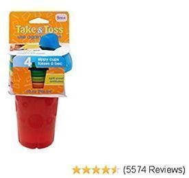 Take & Toss Spill-Proof Sippy Cups, 4 Count