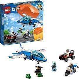 LEGO City Sky Police Parachute Arrest Building Kit (218 Pieces)