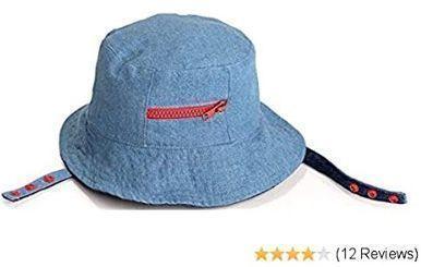 Blue Denim Reversible Baby Sun Hat