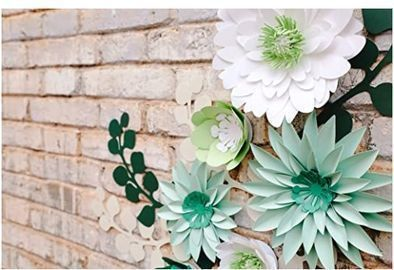 3D Paper Flowers - Set of 19