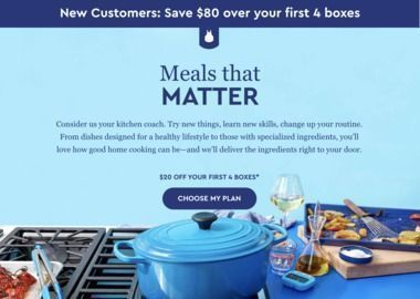 Blue Apron - New Customers: $80 Off Total (First 4 Boxes)
