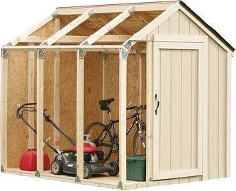 2x4basics Custom Shed Kit with Peak Roof