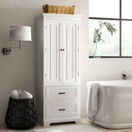 Greyleigh Arapahoe Free-Standing Linen Cabinet