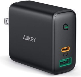 Aukey PA-D1 Dual Port USB C / USB A Wall Charger