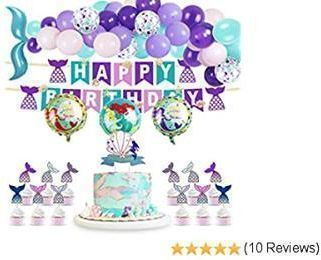 Mermaid Party Supplies for Birthday Parties