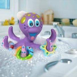 Nuby Floating Purple Octopus Interactive Bath Toy