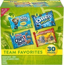 Nabisco 30 Snack Pack of OREO Mini, CHIPS AHOY! Mini, and More