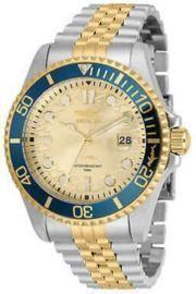 Invicta Men's Watch Pro Diver Quartz Champagne Dial Two Tone Bracelet