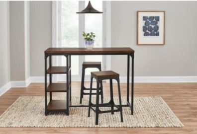 StyleWell Black Metal 3 Piece Dining Set