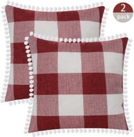 Buffalo Plaid 18x18 Pillow Covers - Set of 2