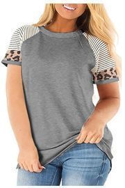 Women's Plus Size Leopard Tunic