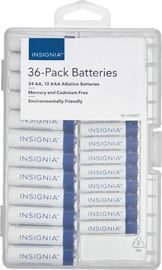 Insignia AA/AAA Batteries 36-Pack