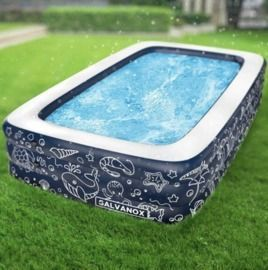 Extra Large 10' x 6' Above Ground Family Sized Inflatable Pool
