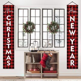 Farmhouse Christmas Porch Signs