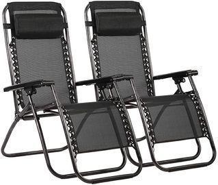 Set of 2 Zero Gravity Chair Patio Lounge Recliners