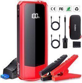 20000mAh Audew 2000A Upgraded Car Jump Starter w/ Dual QC USB Ports