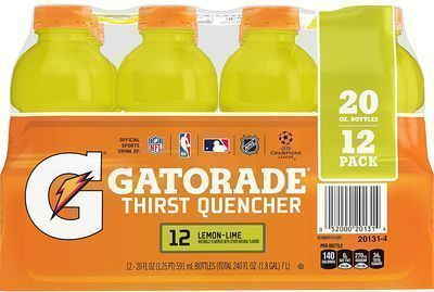 Gatorade Thirst Quencher Lemon-Lime 20-Oz. 12-Pack