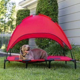 36 Outdoor Raised Cooling Pet Dog Bed w/ Canopy