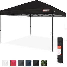 One Person Setup Instant Pop Up Canopy W/ Wheeled Bag   10x10ft