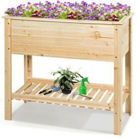36 Raised Garden Bed w/ Storage Shelf