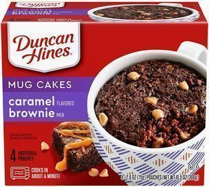 Duncan Hines Mug Cakes Caramel Flavored Brownie Mix 4 2.6 OZ Pouches