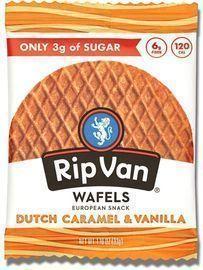 Rip Van Wafels Dutch Caramel and Vanilla Stroopwafels 12-Pack