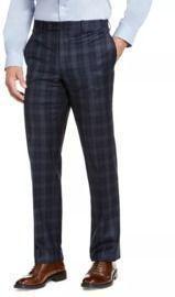 Ralph Lauren Men's Classic-Fit Stretch Check Flannel Dress Pants
