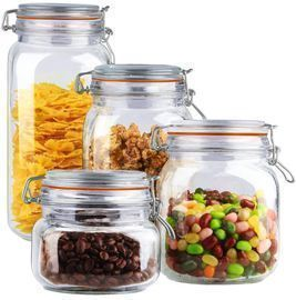 4-Piece Home Basics Glass Canister Set