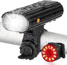 AUOPLUS 800 Lumen Bike Headlight & Tail light Set