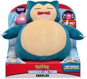 Pokemon Snooze Action Snorlax Plush